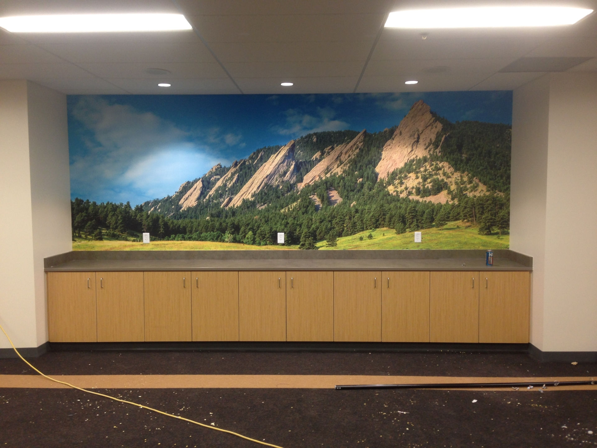 Custom mural by Greg Summers - CU Boulder