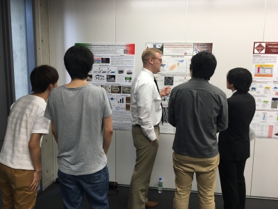 Jake Fallon presenting at VT-Waseda joint workshop in Tokyo, Japan