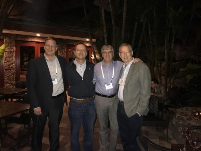 Drs. Mike Bortner, Brian Mather, Tim Long and Bob Allen at the 2018 Adhesion Society Meeting in San Diego, CA