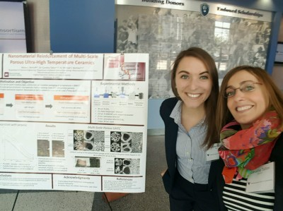 Kelsey Niehoff with Dr. Tallon (MSE) presenting work from her VSGC scholarship