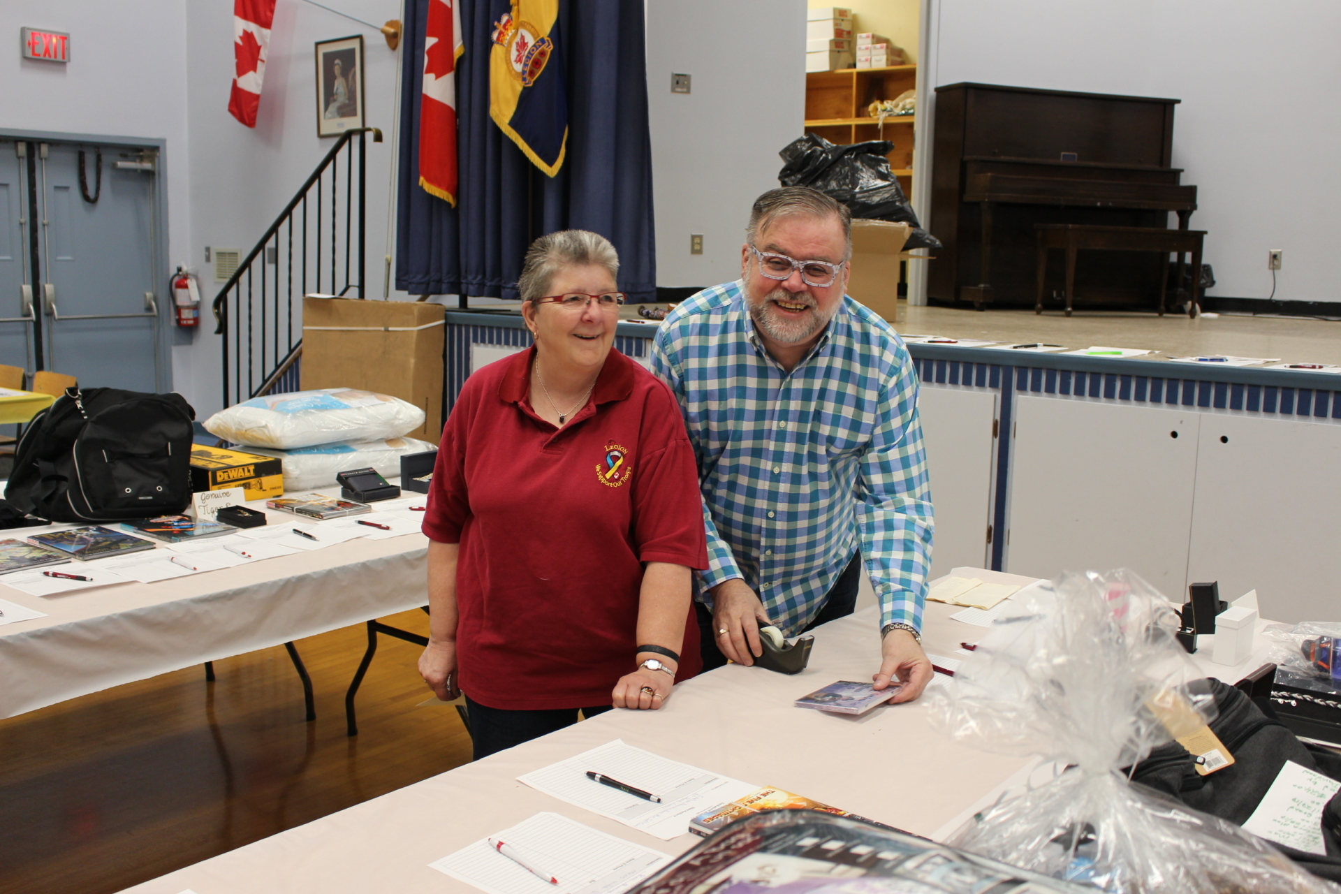 A couple of our hard working volunteers