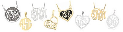 MONOGRAM NECKLACES & PENDANTS