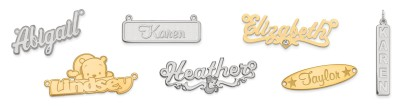 NAMEPLATE NECKLACES & PENDANTS