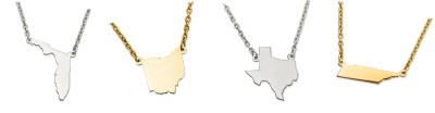 PERSONALIZED STATE NECKLACES & CHARMS