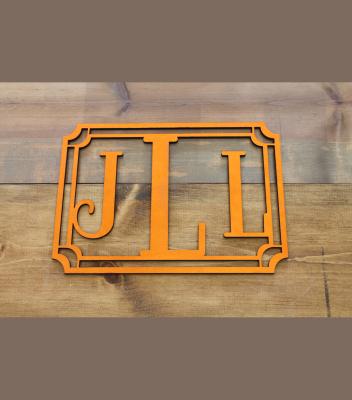 "Block Monogram w/ Frame 11.5""H x 16.25""W - $45.00"