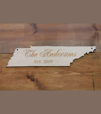 "Tennessee Cut Out 5.5""H x 23""W - $45.00"