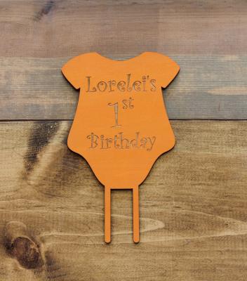 """Birthday Onesie 7.375""""H x 6""""W - $25.00"""