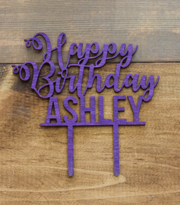 "Script Happy Birthday 4.5""H x 6.5""W - $25.00"