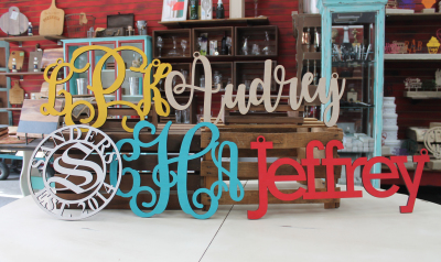 Monogram & Name Cut Outs