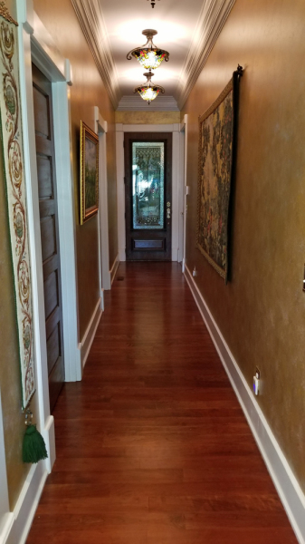 Garage Hallway - Pantry and Laundry Rooms on Left