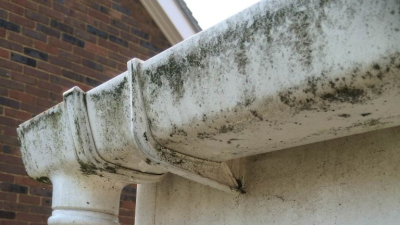 Dirty guttering