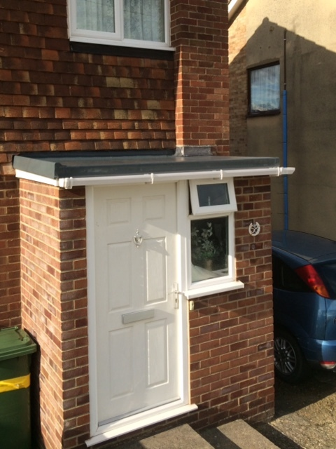 GRP fibreglass porch roof