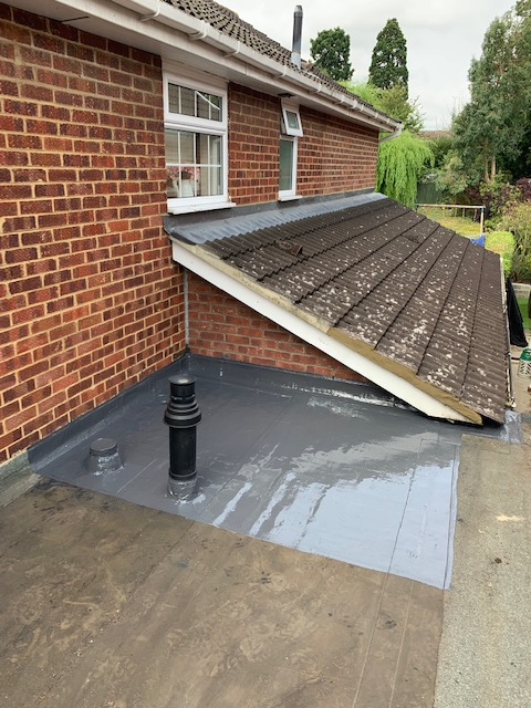 Black cast effect pvc guttering