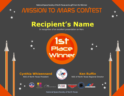 Mission to Mars Award Ceremony