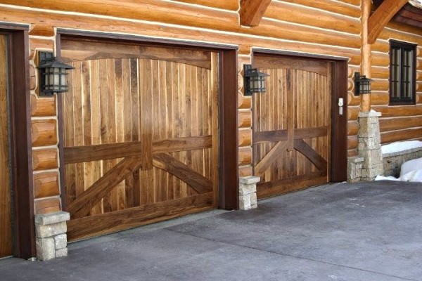 Walnut Overhead Garage Doors