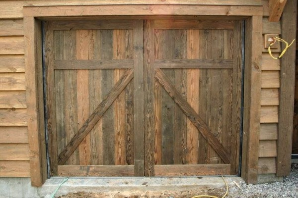 Reclaimed Barnwood Overhead Garage Door
