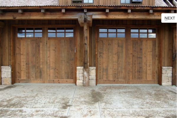 Reclaimed Barnwood Garage Doors