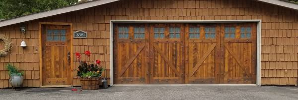 Reclaimed Fir Entry Door & Overhead Garage Door