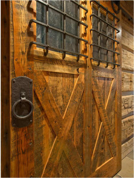 Reclaimed Fir Sliding Door