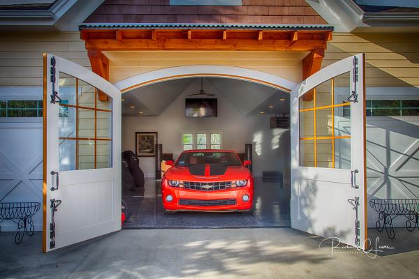 Cedar Carriage Door
