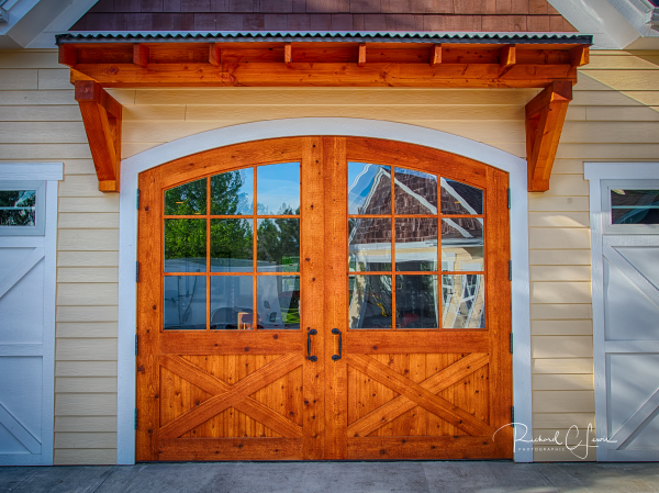 Cedar Carriage Door