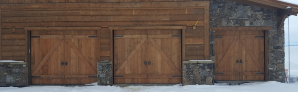 Rough Sawn Fir Overhead Garage Doors