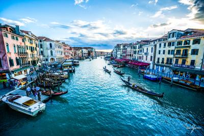 Boat Watch - Venice, Italy - 24x36 - $1150