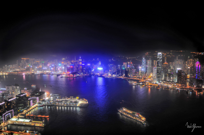 Midnight Glow - Hong Kong, China - 24x36 - $1150