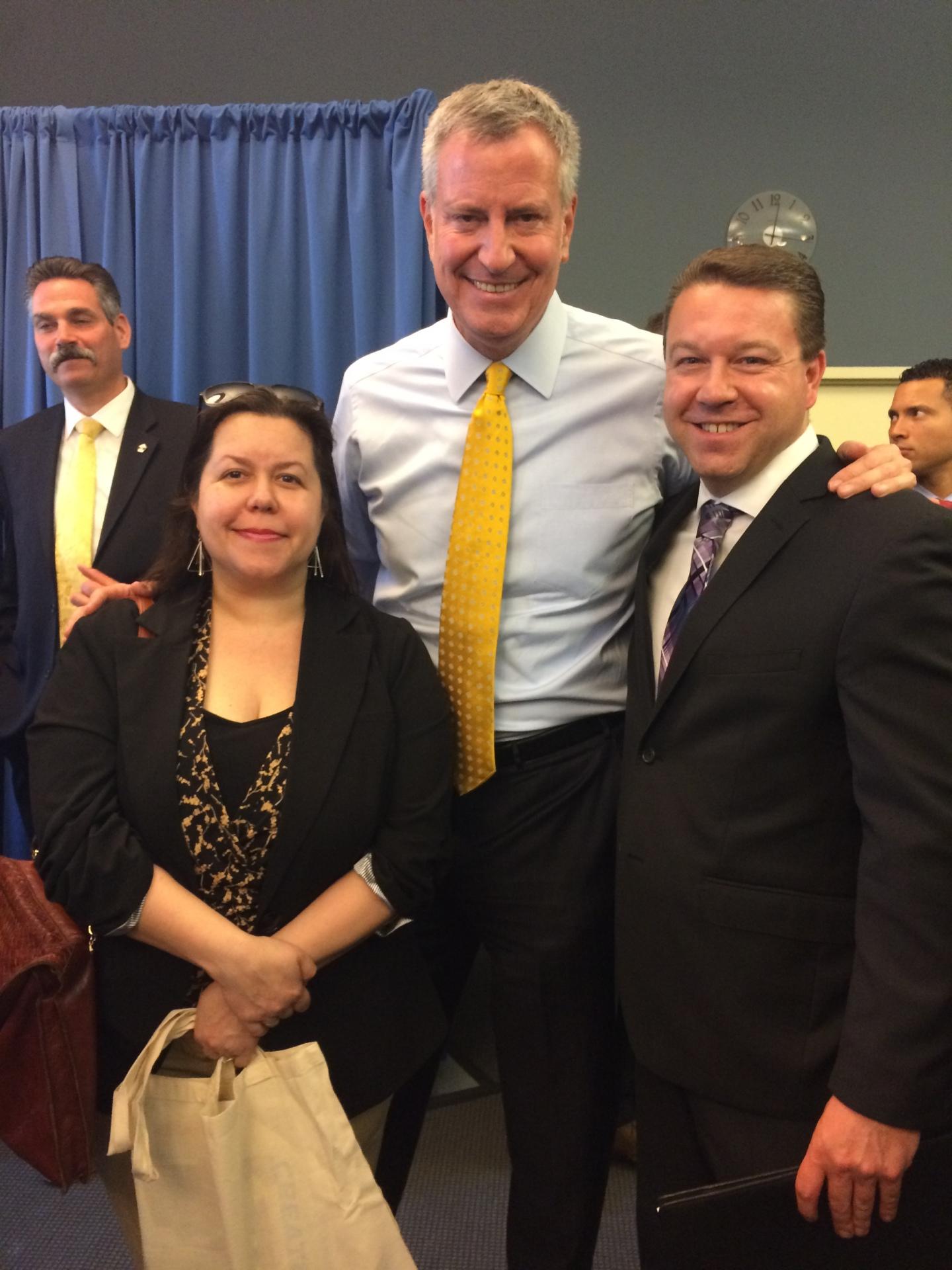 Meeting with Mayor DeBlasio