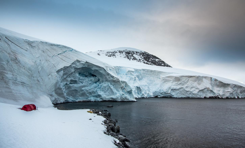 Tent glacier