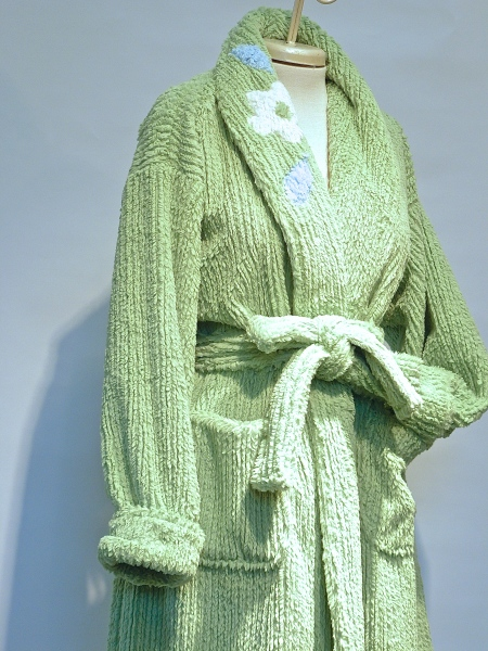 MINKY CHENILLE WITH VINTAGE DETAIL $210.00  green