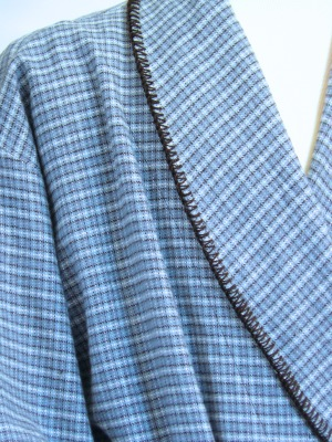 100% COTTON YARN DYED mens blue check  $210.00
