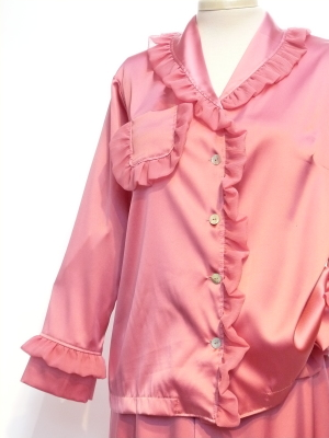 SILK PAJAMAS FLUTTER coral $385.00