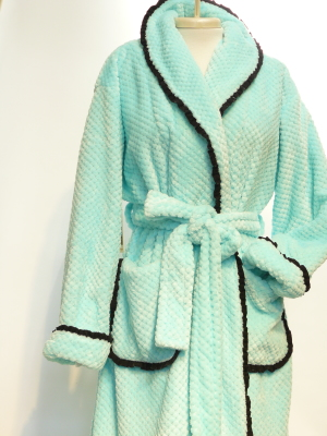 DOUBLE SIDED PLUSH WAFFLE teal  $225.00