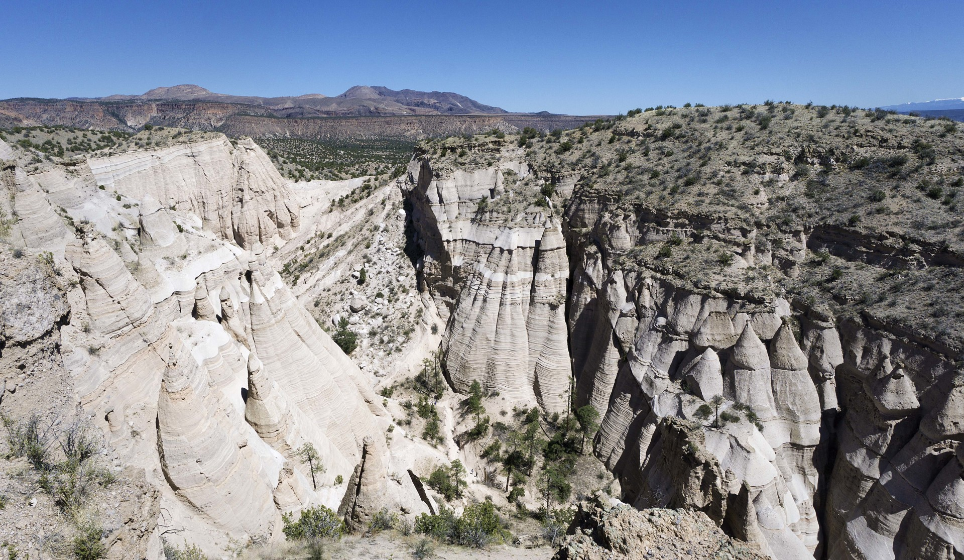 near the end of the main trail in the Kasha-Katuwe Tent Rocks National Monument park