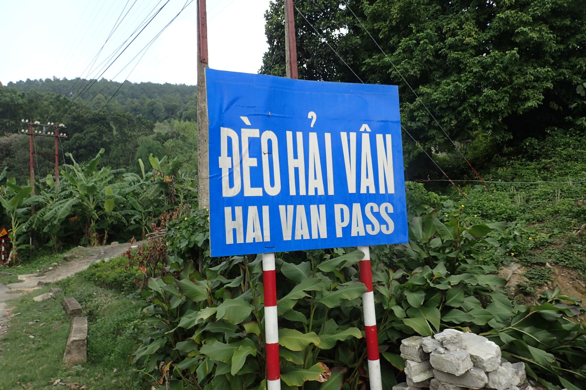 a sign revealing the hai can pass