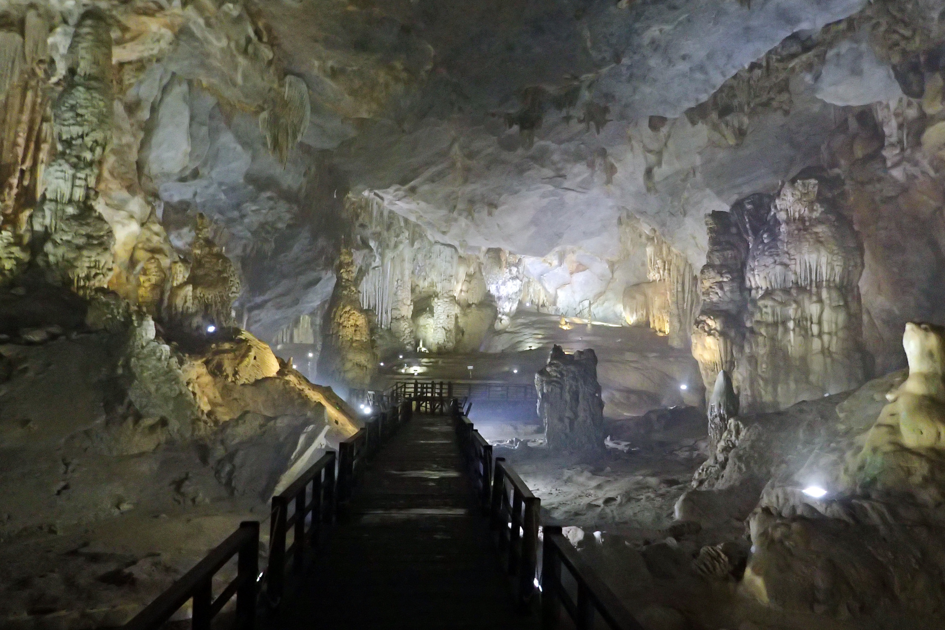 View from inside of paradise cave inside the park