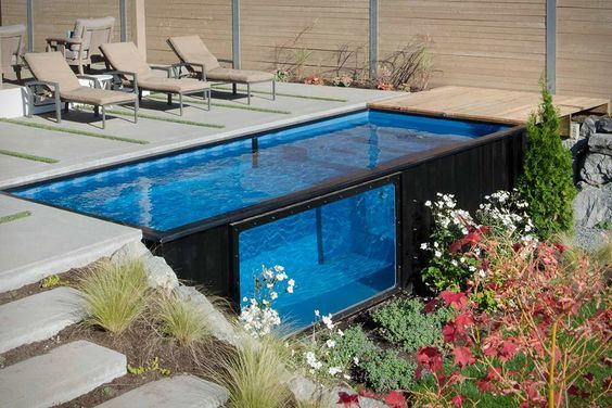 Swimming Pools are made out of Shipping Containers