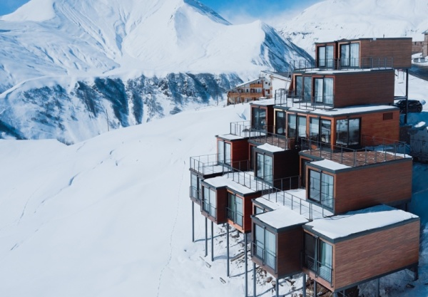 Getting Away From the Crowds – A Shipping Container Ski Resort in the Caucasus Mountains