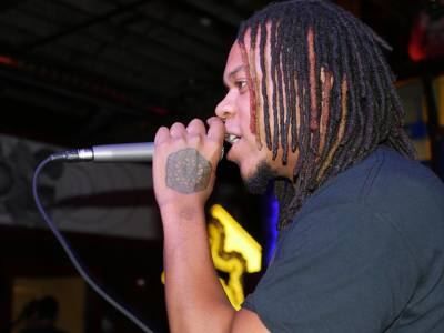 A.O. on the mic
