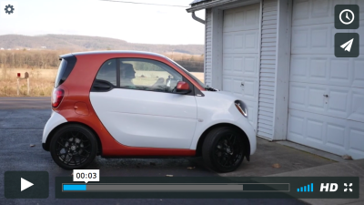 My Smart Car in a TV Commercial
