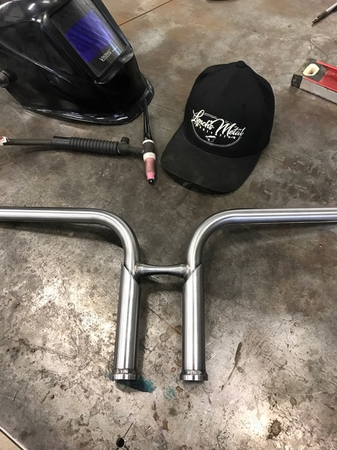 custom motorcycle handle bar risers