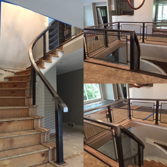 Curved Steel Stair Rail