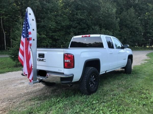 truck flag pole