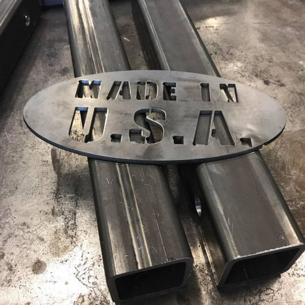 A part for a job that was cut on our cnc plasma table.
