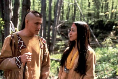 Alamy  Gary Litefoot Davis portrays Hiawatha and Irene Bedard portrays Minehaha.