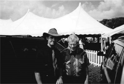 With Doc Watson at Doc Fest in Sugar Grove, NC