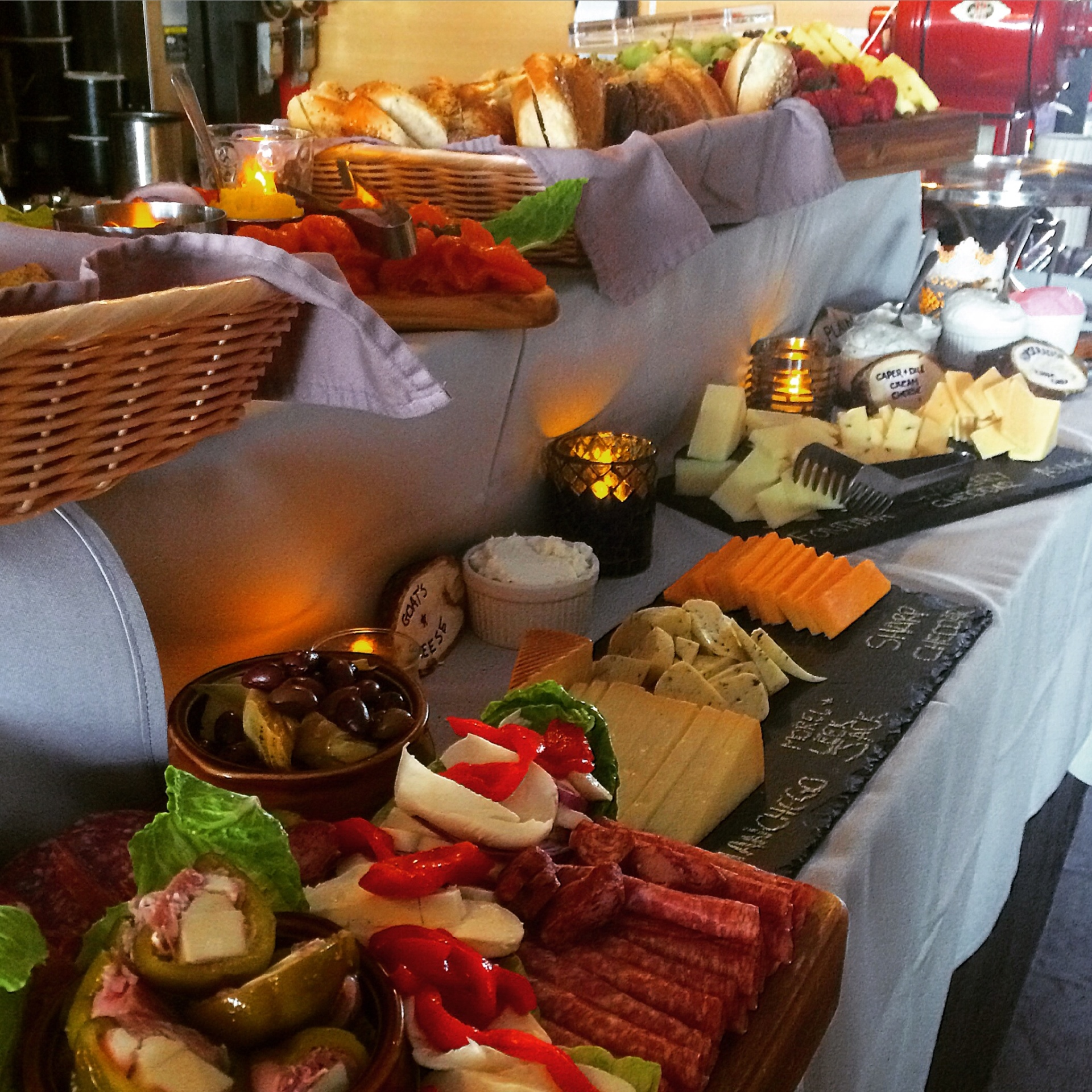 A spread for an on site catering event