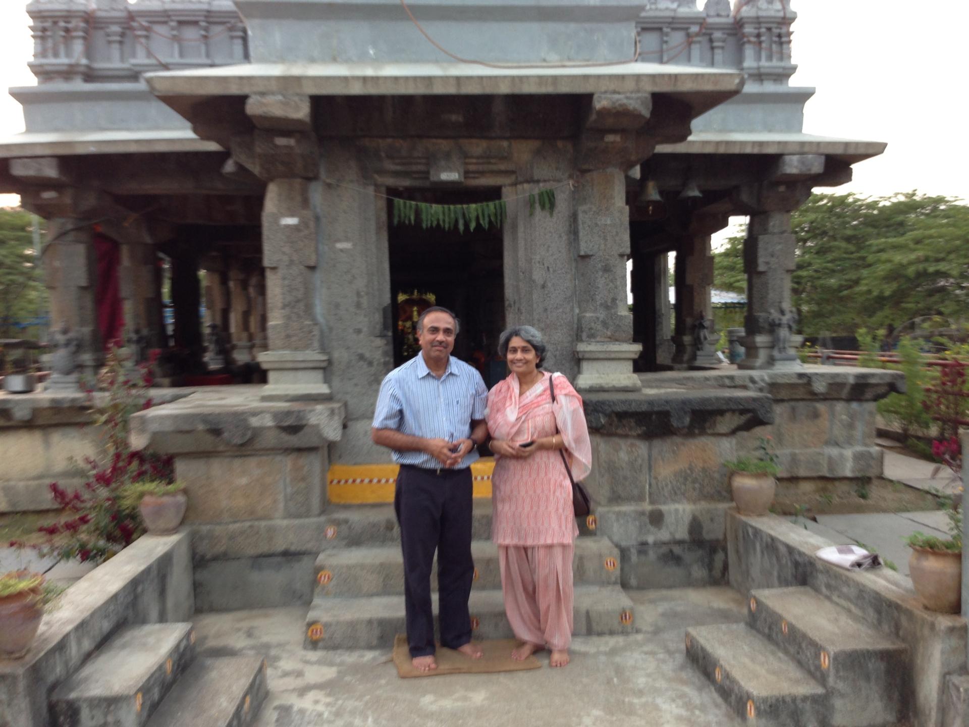 Milind and Aparna at the Kalleda temple