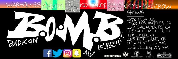 B.O.M.B. TOUR 2017 Header